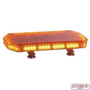 Сигнална лампа   LED - с магнит, Лайтбар,  Универсален 12v - 24v- Фабричен дефект.