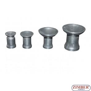 Гумички за клапани к-т 4бр. (от к-т за шлайфане на клапани 36AVL) - ZR-41PAVL4, ZIMBER-TOOLS