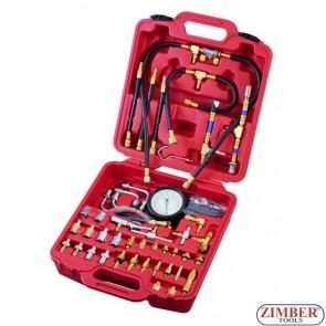 К-т за измерване налягането на горивото инжекторни системи  (0.03-8 bar), ZR-36GEIPTS  (0.03-8 bar) - ZIMBER-TOOLS.