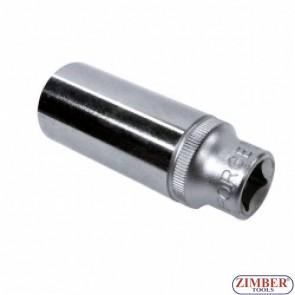 3/8 дълбока вложка 6 стенна 22mm - 5356322 - FORCE