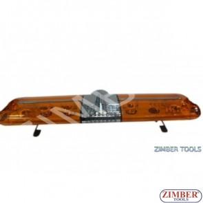 Сигнална лампа , Лайтбар за камион - със сирена - 24V 120-31-19см. ZTBD-110E-1-24V ZIMBER - TOOLS.