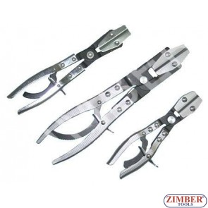 """Клещи трета ръка 10 """" пристягащи за водни съединения  3бр. (ZR-36HPOP03)- ZIMBER-TOOLS"""