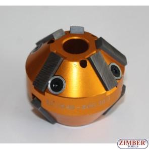 Фреза за шлайфане на леглата на клапани  46mm-60mm 45°и 30°, ZR-41VRST1005  - ZIMBER-TOOLS.