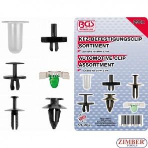 Комплект щипки за кора на врата и тапицерия BMW, VW - 290 части. - 9042 - BGS technic.