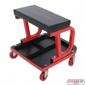 Автомонтьорски стол с поставка за инструменти с колела, 1305 - NEILSEN