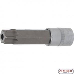 """Вложка с накрайник с дупка T100- 110 mm(1/2"""")  Torx   - 5103-TB100 - BGS technic."""