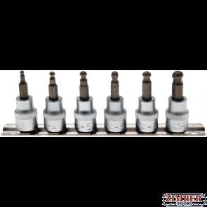 """К-т накрайници на вложки с топче (3/8"""")  3-mm - 8 mm, 7 -бр. (5109) - BGS technic"""