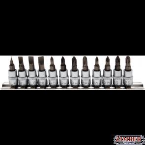 """К-т накрайници на вложки SL/ PH/PZ- 1/4"""" -12 бр -2163  - BGS technic"""