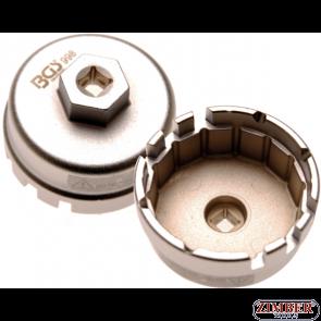 Чашка за маслен филтър 64.5mm.14 ъгли,Toyota Auris, Corolla, Premio, Prius 1.8 & 2.0l 4 Цилинд. Двигат- 998 - BGS technic