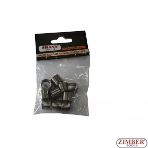 Втулки за възстановяване на резби M10 X 1.25 X 13.5 mm, 10 бр  -  ZT-04J1236 - SMANN TOOLS.