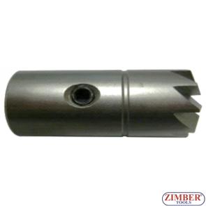 Фрезер за почистване гнездата на дизелови дюзи под ъгъл 120°-1бр - 15.5x15.5mm. ZR-41FR09 - ZIMBER-TOOLS.