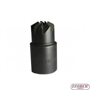 Фрезер за почистване гнездата на дизелови дюзи (прав)1бр 17.5x20.5mm. ZR-41FR14 - ZIMBER-TOOLS.