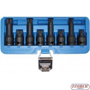 "Комплект ударни битове Ribe | 12.5 mm (1/2"") ( XZN) M12 - M18 | 8 - части, 5381- BGS- technic."