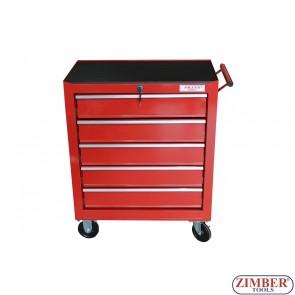 Инструментална количка (шкаф) с 5 отделения, ZT-01Y0112  - SMANN TOOLS