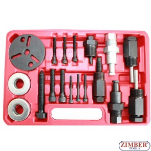 Инструменти за демонтаж на съединител на компресор на автоклиматици 18 части.- ZT-04D1027 - SMANN TOOLS