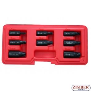 К-т екстрактори за скъсани болтове 8-бр, Torx-Plus- ZR-36TPES8 - ZIMBER TOOLS