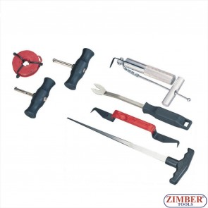 К-т инструменти за сваляне на автостъкла, ZT-04045 - SMANN TOOLS