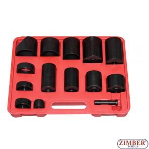 К-т скоби (втулки) за монтаж и демонтаж на селенови втулки, шарнири, тампони, лагери, семеринги и др. ZT-04010 - SMANN TOOLS