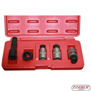 К-т вложки (Ключове) за  монтаж и демонтаж капачки за главини 5бр VAG/ Mercedes Benz - ZR-36HNK - ZIMBER TOOLS.