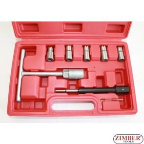 К-т за почистване леглата на дизелови дюзи - 7 части,  ZT-04777 - SMANN TOOLS.