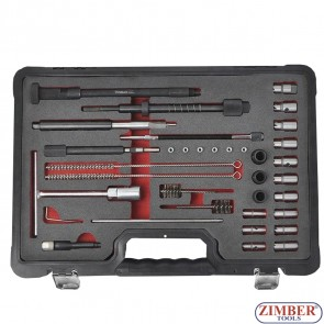 К-т за почистване леглата на дизелови дюзи - ZT-04A3065 - SMANN TOOLS
