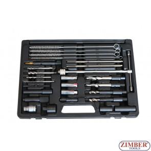 К-т за вадене скъсани подгряващи свещи 8mm, 9mm, 10mm -27 части - ZR-36GPTS27 - ZIMBER TOOLS.