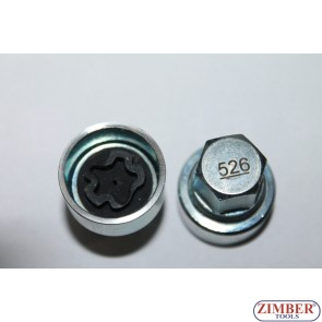 Ключ за секретни болтове на Vag -Volkswagen Golf Passat T4- Seat Audi Skoda 526- ZIMBER TOOLS