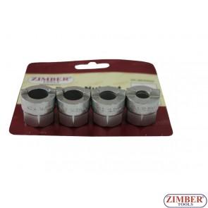 Ключове  (Камъни) за гайки на амортисьори  AUDI.VW.AUSTIN MAERTRO - 4 части,ZR-36DNS04 - ZIMBER - PROFESSIONAL
