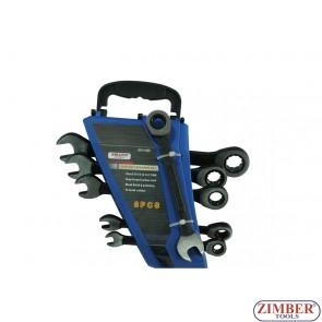 Ключове с  тресчотка  комплект 6ч. от 10-mm до 17-mm -ZT-04644-SMANN TOOLS.