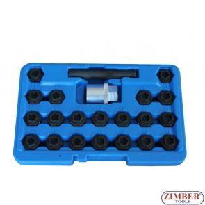 Ключове за секретните болтове на BMW  к-т 22бр. - ZR-36BWBLS22 - ZIMBER TOOLS.
