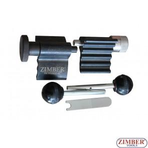 К-т фиксатори за зацепване на двигатели VW, AUDI 1.9TDI, 2.0 TDI, ZR-36ETTS66-1 - ZIMBER-TOOLS