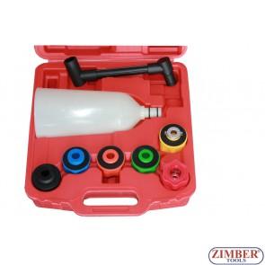 Комплект фуния за пълнене на масло с 6 адаптери - ZT-04A5088 - SMANN TOOLS.