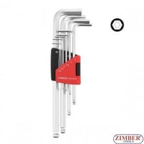 Комплект инбусни ключове 10бр. 5102XLB -FORCE