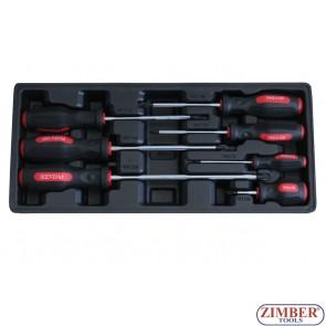 Комплект кръстати отвертки тип Philips 7части -  ZT-00877 - SMANN TOOLS