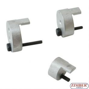 К-т инструменти за монтаж и демонтаж на еластични канални ремъци 3-бр. ZR- 36BITS3 - ZIMBER-TOOLS.