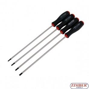 Комплект удължени отвертки T15, T20, T25, T30 -250-mm, 4 бр. -2899- NEILSEN.