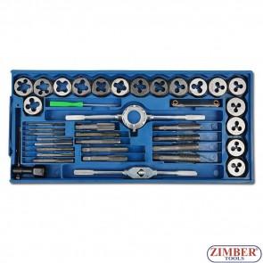 Метчици и плашки к-т 40 части - ZB-1894- BGS technic