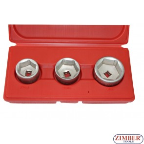 К-т чашки за маслен филтър 3бр.-27мм,32мм,36мм, (ZR-36OFCWS03)- ZIMBER -TOOLS