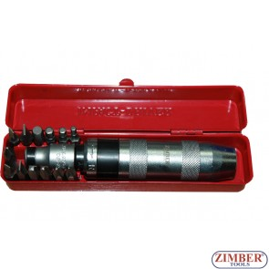 Отвертка ударна с накрайници к-т 13 части - ZIMBER-TOOLS  (ZR-14ID121301)