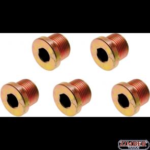 Пробки за картер M17x 1.5 mm 5 бр.(126-SM17) - BGS technic