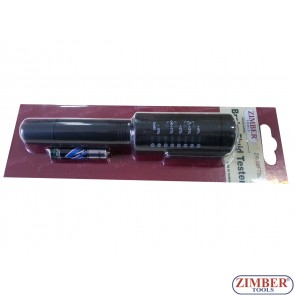 Професионален тестер за спирачна течност  DOT 3, DOT 4, DOT 5.1, ZIMBER TOOLS.