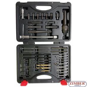 Разширен комплект за вадене на скъсани подгряващи свещи M8-M10 -40 - части - ZT-01Z5195 - SMANN TOOLS.