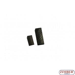 Резервен райбер (нож) от фреза за легла на клапани 52mm-65mm 75° and 60°, Размер: 6.8mm x 18mm - 1бр. ZR-41VRST100601 - ZIMBER TOOLS