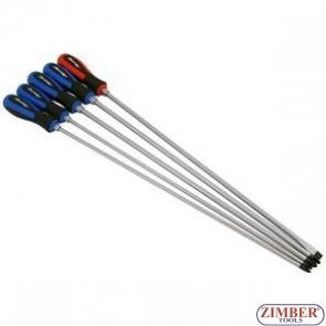 Комплект дълги отвертки, XXL 450 mmL-5-бр -4033- NEILSEN.