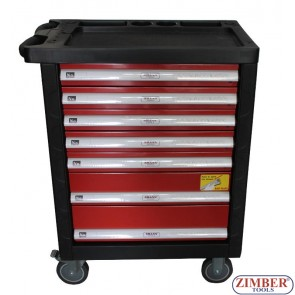 Инструментална количка (шкаф) с 7 отделения, ZT-01163  - SMANN TOOLS