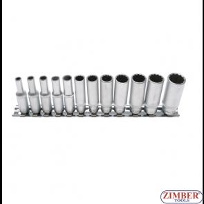 """Комплект вложки 12-стени инчове    (1/4"""")  12 части, 2757- BGS- technic."""