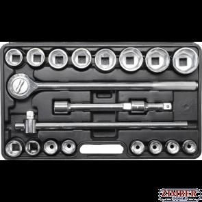 Гедоре камионджийско 19-50 mm. 3/4 6-стенни  20 части (1202) - BGS technic-KRAFTMANN