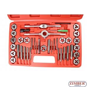 Метчици и плашки к-т 40 части,1426 - Neilsen-tools