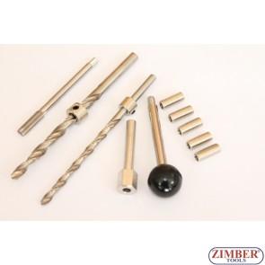 К-т за възстановяване на резбите на болтовете за монтаж на инжектори Mercedes Benz CDI - ZR-36ETTS286 - ZIMBER TOOLS.