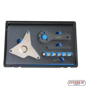 Под наем - к-т за зацепване на  двигатели (ангренажен ремък) PRT ALFA ROMEO, FIAT, LANCIA - ZR-36ETTS257 - ZIMBER TOOLS.